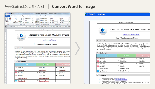 Convert Word to Image