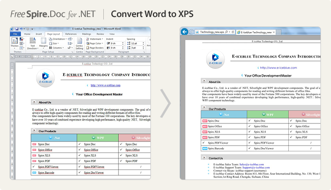 Convert Word to XPS
