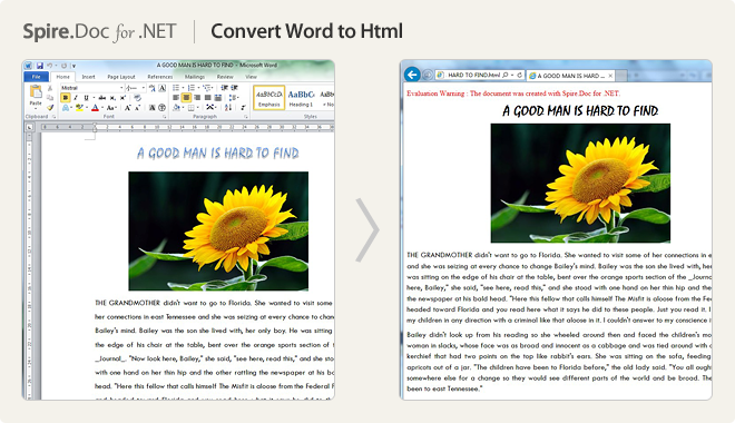 Convert Word to HTML