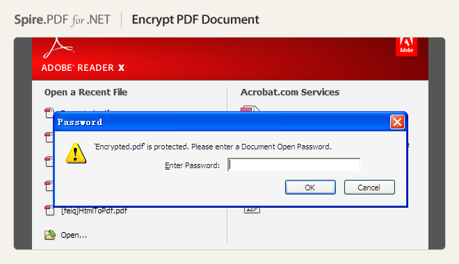 Encrypt PDF Document