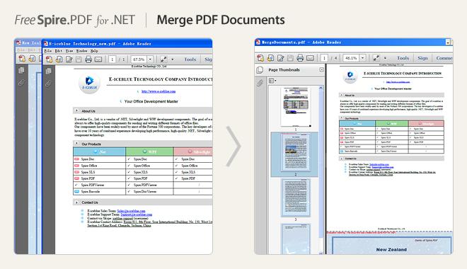 Merge PDF documents