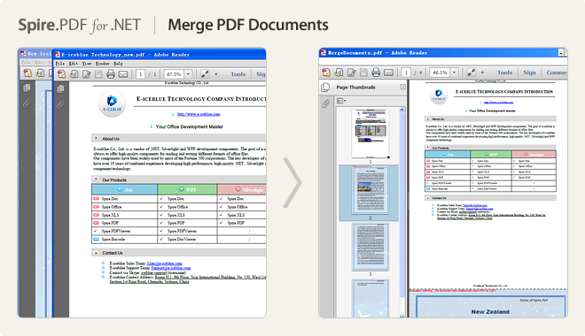 Merge PDF documents