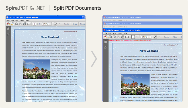 Split PDF documents
