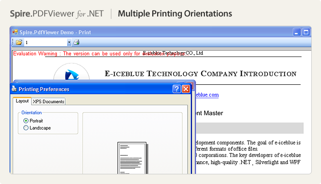 Multiple printing orientations