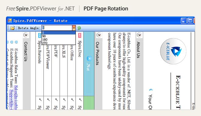 PDF page rotation