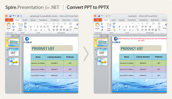 Convert PPT to PPTX