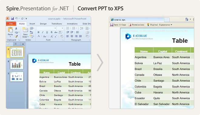 Convert PPT to XPS