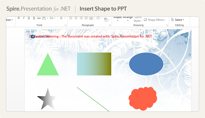 Insert Shape to PPT