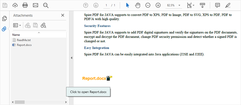 Add Attachments to PDF in Java