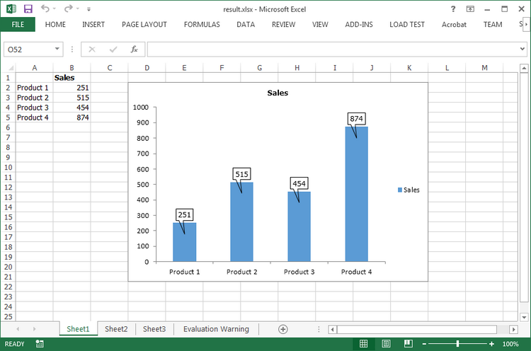 How to Add Data Callout Labels to Charts in Excel in C#