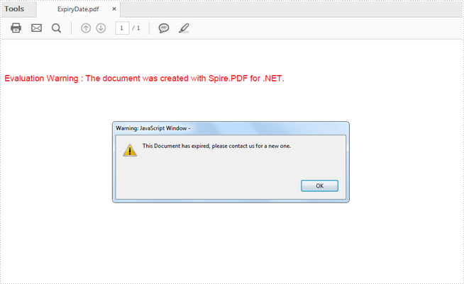 How to Add Expiry Date to PDF Files in C#, VB.NET
