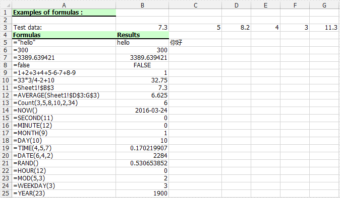 Add Formulas to Excel Cells with C# in WPF