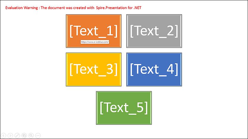 Add Hyperlinks to SmartArt Nodes in PowerPoint in C#, VB.NET