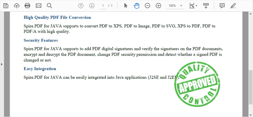 Add Image Stamps to PDF in Java