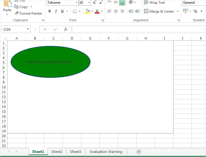 Add Oval shape to Excel Chart in C#