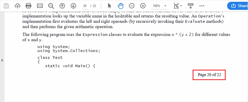 Add Page Numbers to Exsiting PDF Documents in Java