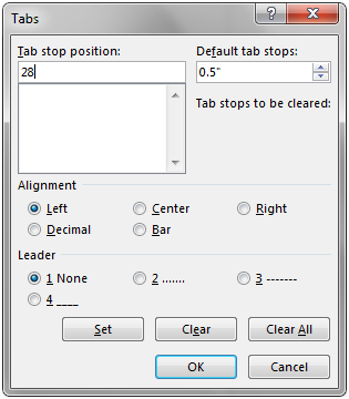 Add Tab Stops to Word Paragraphs in C#