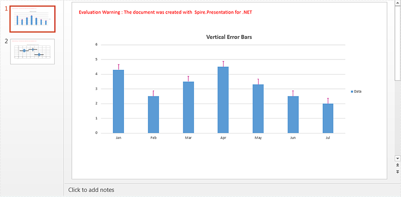 Add and Format Error Bars in PowerPoint Charts in C#