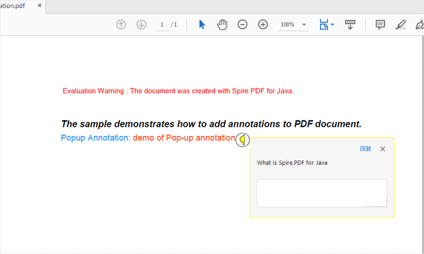 Add annotation to PDF in Java