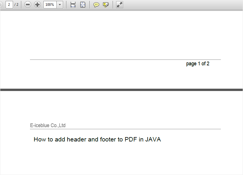 Add header and footer to PDF in JAVA