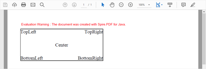 Align Text on PDF in Java