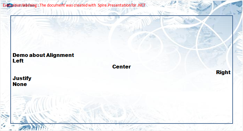 Align Text in PPT Document