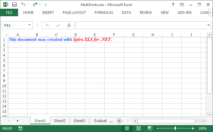 How to Apply Multiple Fonts in a Single Cell in C#, VB.NET