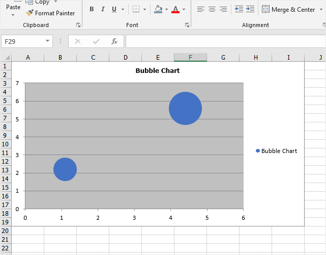 Create Bubble Chart in Excel in C#/VB.NET