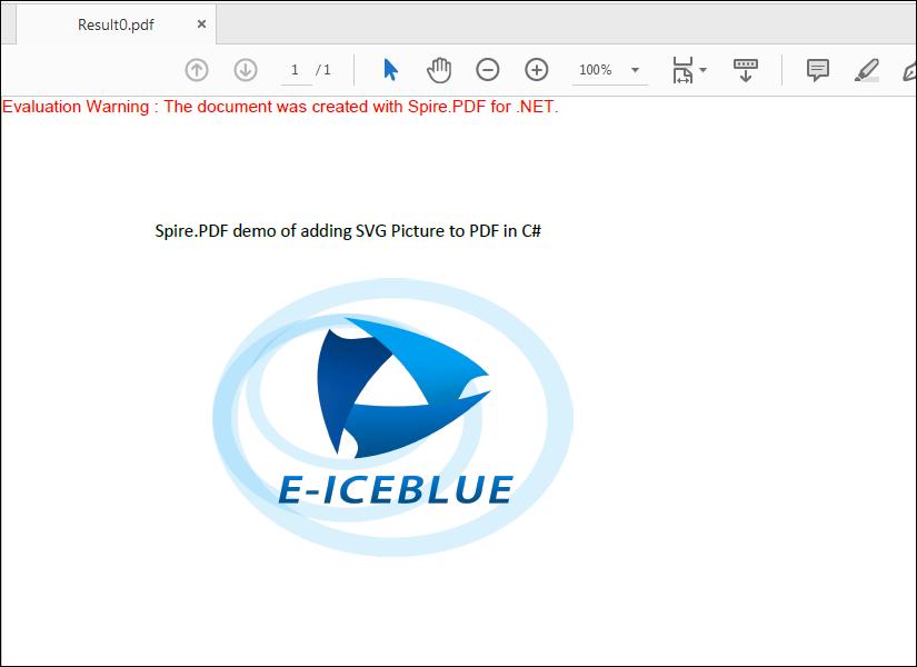 Convert SVG to PDF in C#/VB.NET