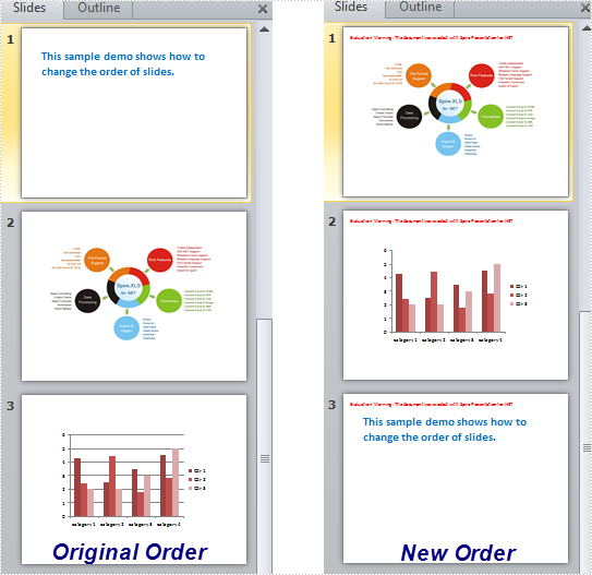 Change the Slide Order within a Presentation in C#, VB.NET