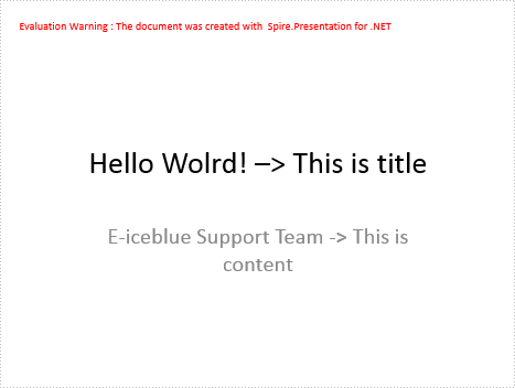 Change the layout of the slide in .NET