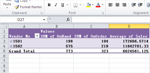 Collapse the rows in Pivot table in C#