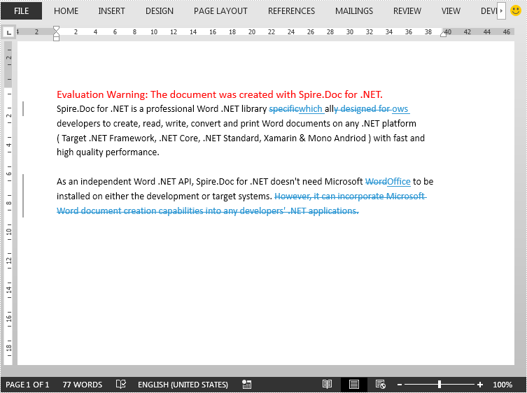 Compare Two Word Documents in C#, VB.NET