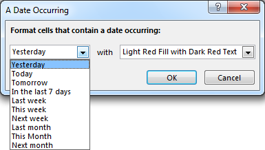 Conditionally Format Dates in Excel with C#