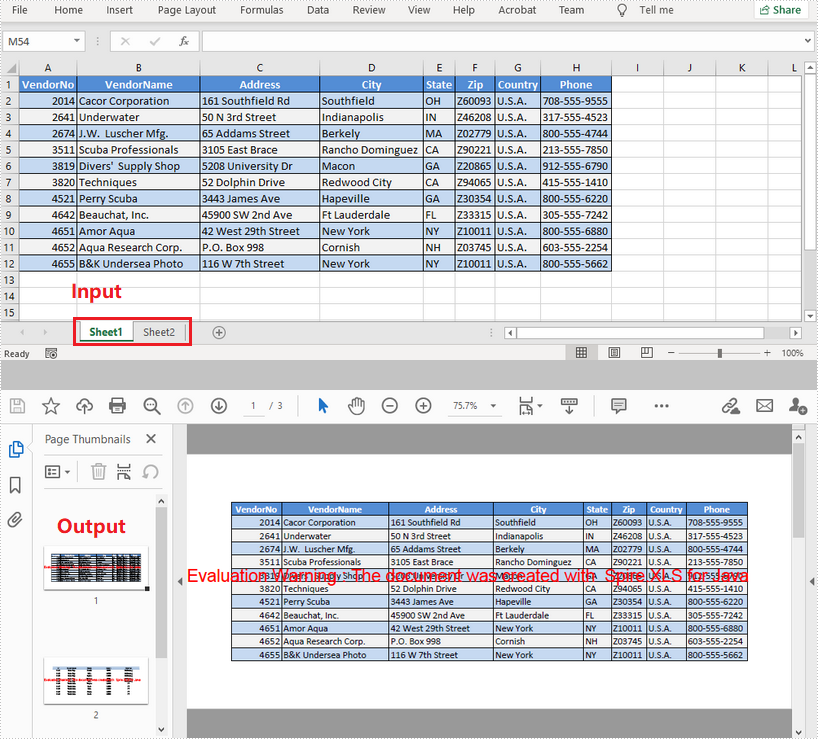 Convert Excel to PDF in Java