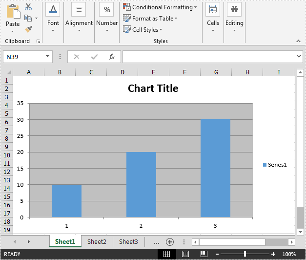 Create Chart without Using Worksheet Data Range in C#