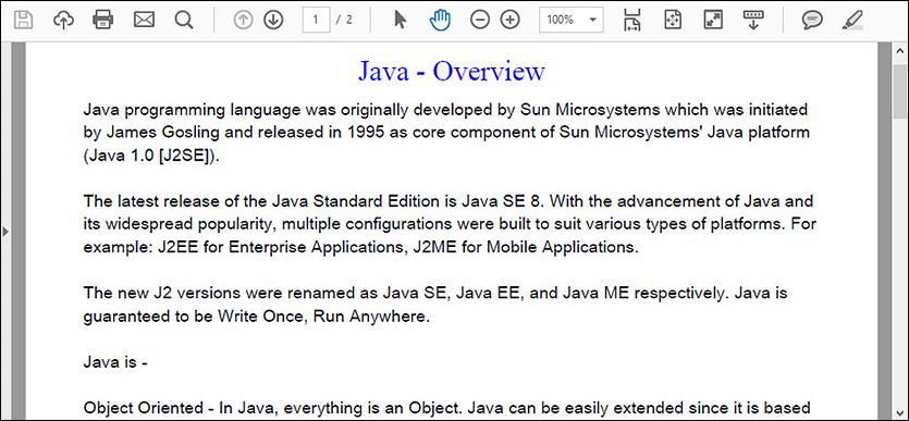 Create a PDF Document in Java