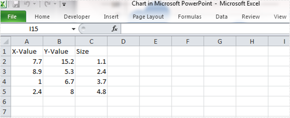 How to Create Bubble Chart in PowerPoint in C#, VB.NET