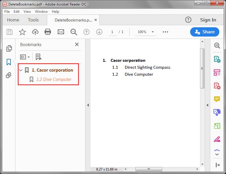Delete Bookmarks in PDF in Java