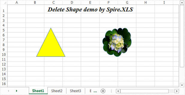 Delete shapes in an Excel Worksheet in C#