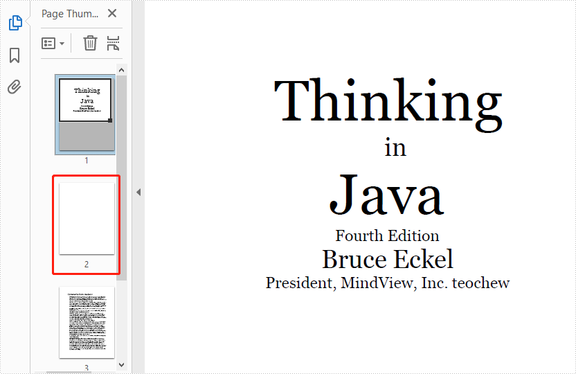 Detect and Remove Blank Pages in PDF in Java