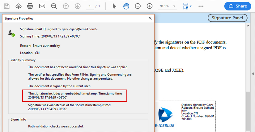 How to Digitally Sign PDF with Timestamp Server in C#, VB.NET