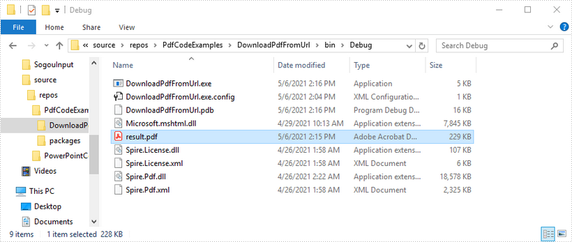 Download PDF Document from URL in C#, VB.NET