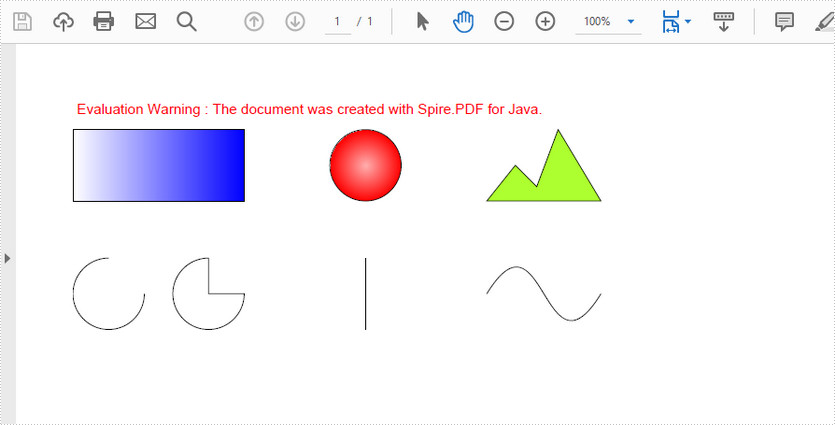 Draw Shapes in PDF in Java