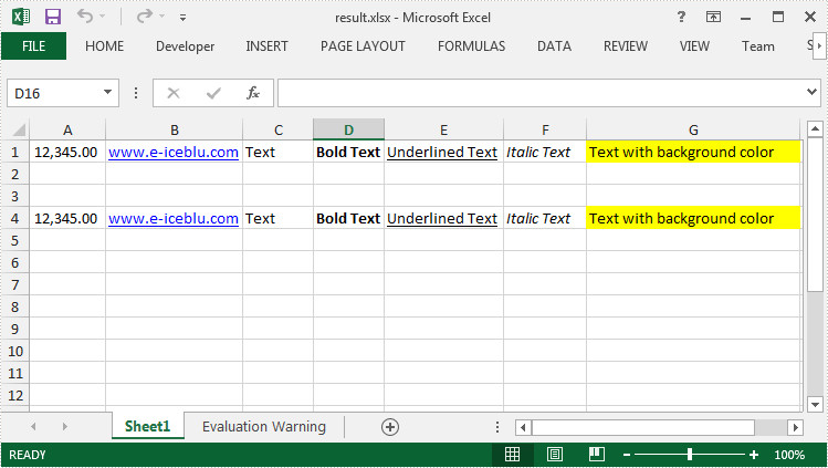 How to Duplicate a Row in Excel in C#, VB.NET