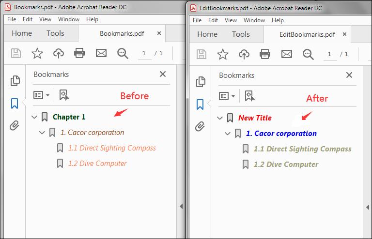 Edit Bookmarks in PDF in Java
