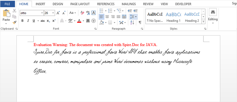 Embed Private Fonts When Saving Word to DOCX and PDF in Java