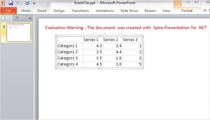 How to Embed Excel Object into PowerPoint Slide in C#, VB.NET