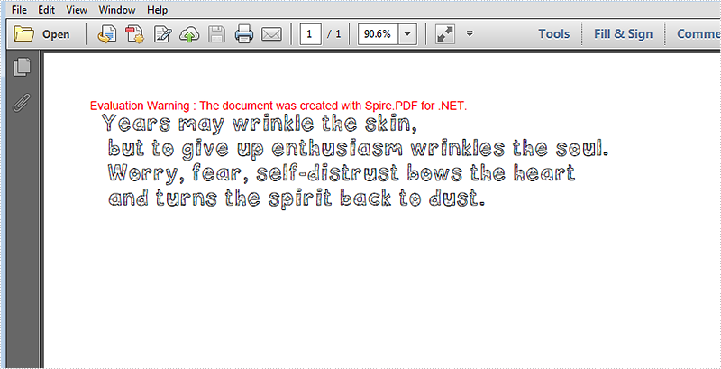Embed private font to pdf document via Spire.PDF