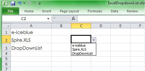 Excel Dropdown List